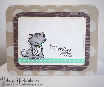 Get Well Cat Card | Newton's Sick Day | 4x6 photopolymer Stamp Set | Newton's Nook Designs