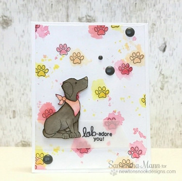 Friendship Dog Card | Fetching Friendship | 4x6 photopolymer Stamp Set | Newton's Nook Designs