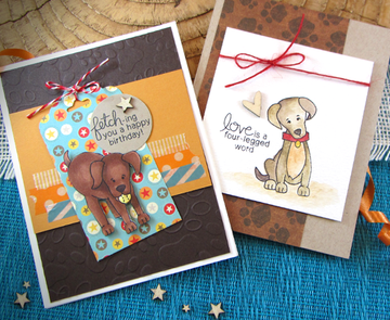 Fetching Friendship | 4x6 Photopolymer Stamp Set | Newton's Nook Designs