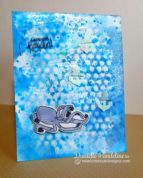 Kraken card | Message In A Bottle Stamp Set by Newton's Nook Designs