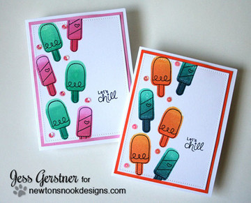 Ice Cream Friendship Cards | Summer Scoops Stamp Set by Newton's Nook Designs