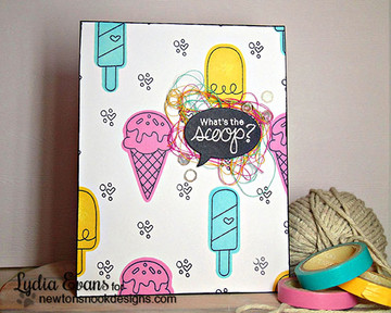 Ice Cream Friendship Card | Summer Scoops Stamp Set by Newton's Nook Designs