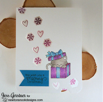 Newton's Christmas Cuddles | 4x6 Photopolymer Stamp Set | Newton's Nook Designs