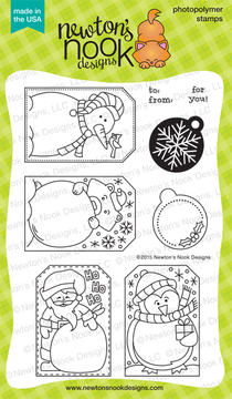 Jolly Tags | 4x6 Photopolymer Stamp Set | Newton's Nook Designs