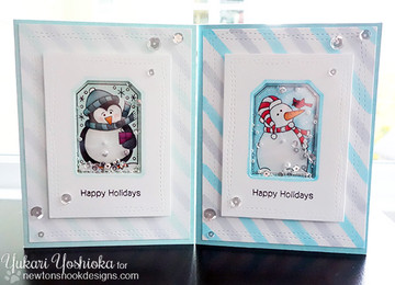 Set of Holiday Cards using Tags |Jolly Tags | 4x6 Photopolymer Stamp Set | Newton's Nook Designs