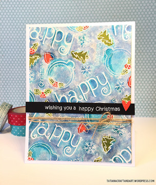 Happy Christmas Card | Simply Seasonal | 4x6 Photopolymer Stamp Set | Newton's Nook Designs