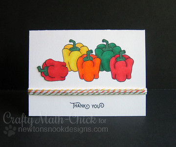 Sweet Peppers Card using Vegetable Garden Stamp Set by Newton's Nook Designs
