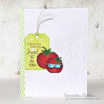 Silly Tomato Card using Vegetable Garden Stamp Set by Newton's Nook Designs