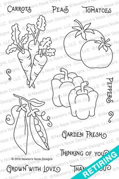 Vegetable Garden Stamp Set ©2014 Newton's Nook Designs