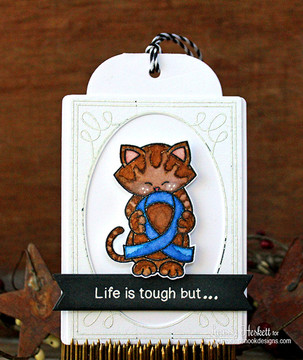 Blue Ribbon card using Newton's Support Stamp Set by Newton's Nook Designs