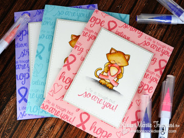 Ribbon cards using Newton's Support Stamp Set by Newton's Nook Designs