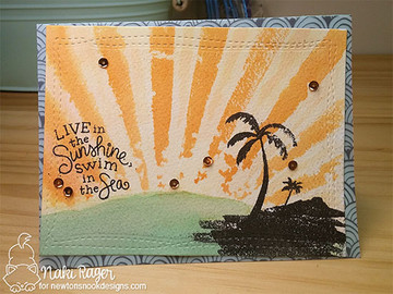 Paradise Palms Stamp Set by Newton's Nook Designs