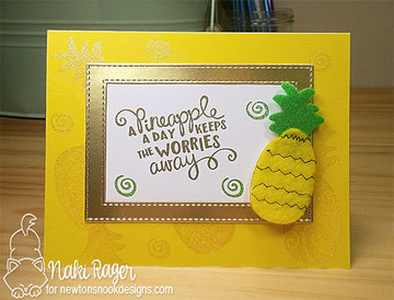 Pineapple Delight Stamp Set by Newton's Nook Designs