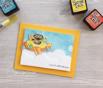 Winston Takes Flight  Stamp Set by Newton's Nook Designs