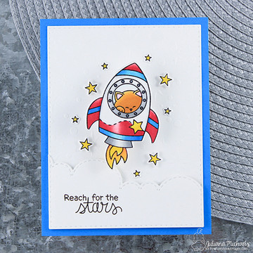 Cosmic Newton Stamp Set by Newton's Nook Designs