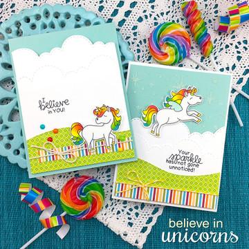 Believe in Unicorns Stamp Set ©2017 Newton's Nook Designs