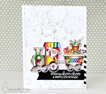 All Aboard for Christmas Stamp Set ©2017 Newton's Nook Designs