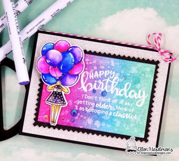 Birthday Essentials Stamp Set ©2018 Newton's Nook Designs