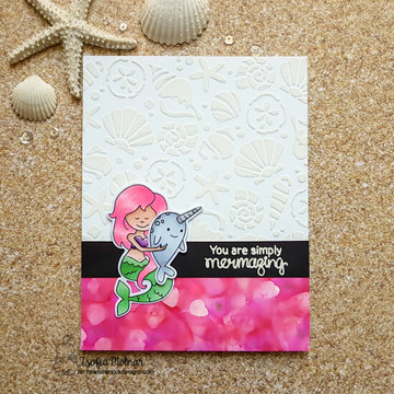 Narly Mermaids Stamp Set ©2018 Newton's Nook Designs