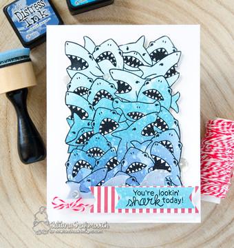 Shark Frenzy Stamp Set ©2018 Newton's Nook Designs