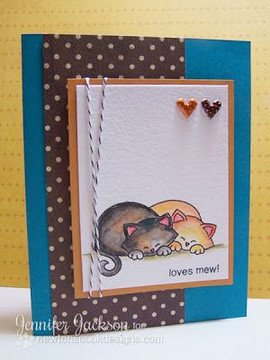 Loves Mew Cat Card | Newton's Antics Stamp set by Newton's Nook Designs