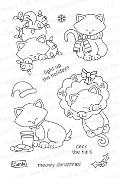 Newton's Holiday Mischief | 4x6 photopolymer Stamp Set by Newton's Nook Designs