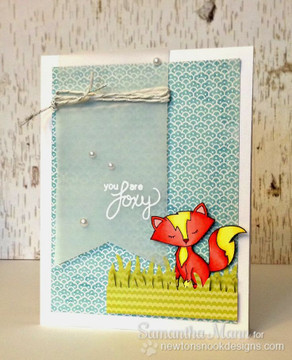 Fox Love Card | Sweetheart Tails Stamp Set by Newton's Nook Designs