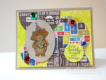 Bear Birthday card  | Wintston's Birthday Bear stamp set by Newton's Nook Designs