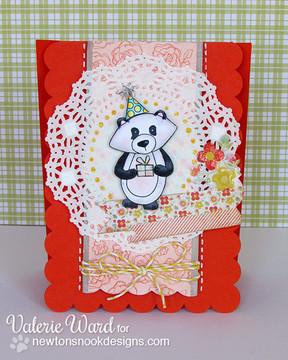 Winston as a Panda bear Birthday card  | Wintston's Birthday Bear stamp set by Newton's Nook Designs