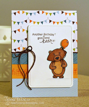 Another Birthday Card  | Wintston's Birthday Bear stamp set by Newton's Nook Designs