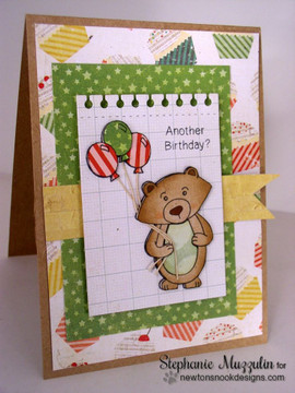 Another Birthday Bear | Wintston's Birthday Bear stamp set by Newton's Nook Designs