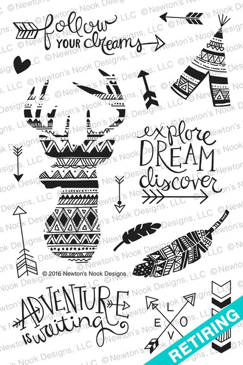 Adventure Awaits Stamp Set ©2016 Newton's Nook Designs
