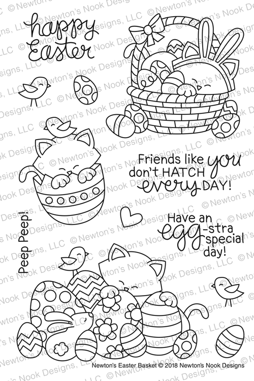 Newton's Easter Basket Stamp Set ©2018 Newton's Nook Designs