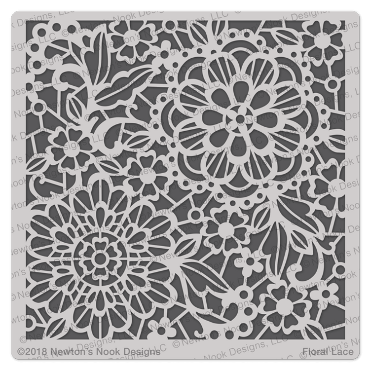 Floral Lace Stencil ©2018 Newton's Nook Designs