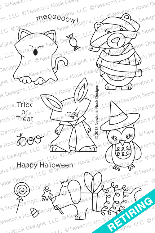 Boo Crew Halloween Stamp Set by Newton's Nook Designs