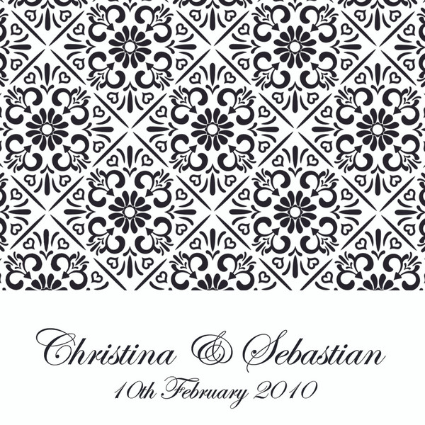 Black & White - Card Style Wedding Invitation