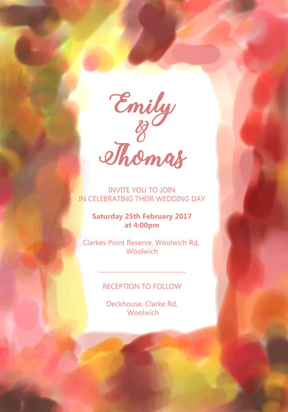 Colours Wedding Invitation