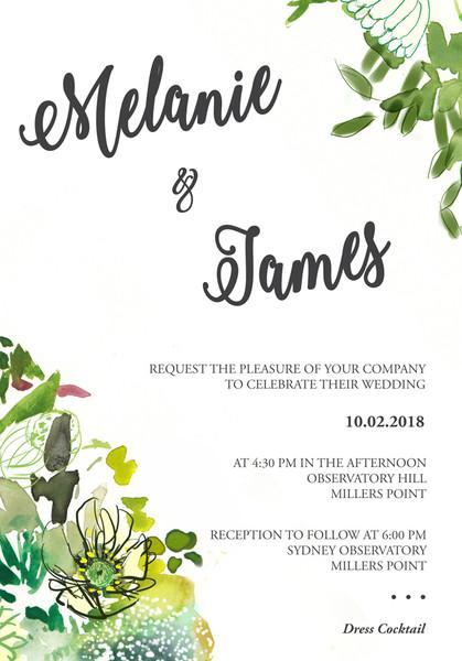 Bouquet Wedding Invitation