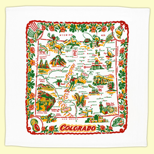 Colorado  Map Towel