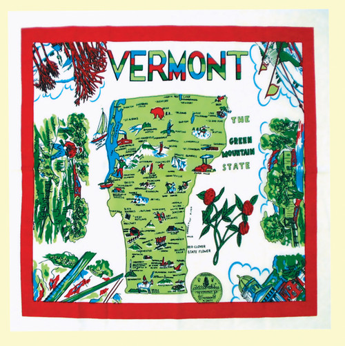 Vermont  Map Towel