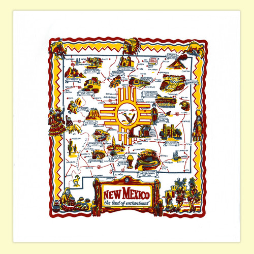 New Mexico  Map Towel