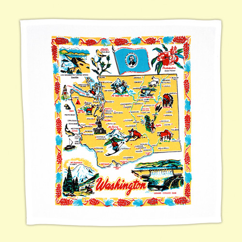 Washington State  Map Towel