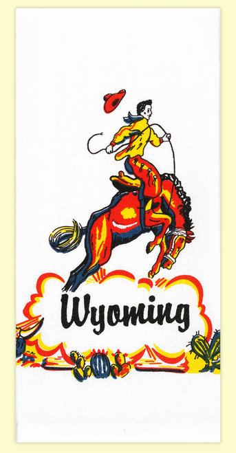 Wyoming Cowboy Towel