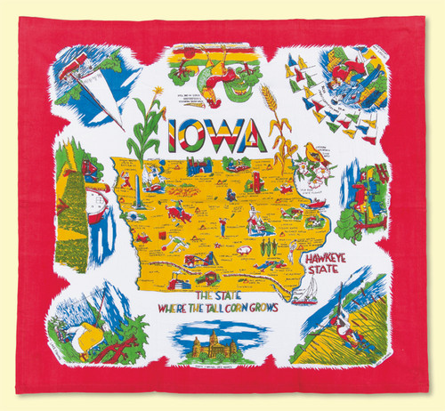 Iowa Map Towel