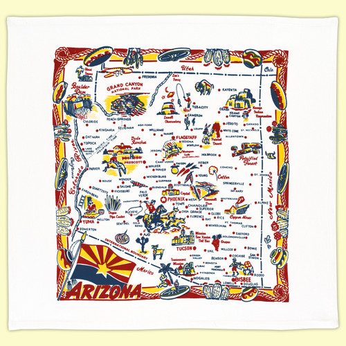 Arizona Map Towel