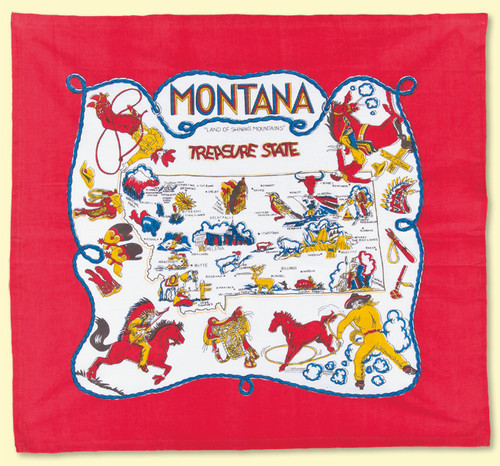 Montana Map Towel