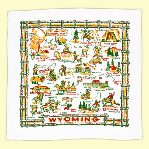 Wyoming Map Towel