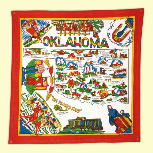Oklahoma Map Towel