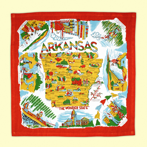 Arkansas Map Towel