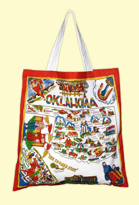 Oklahoma Map Tote